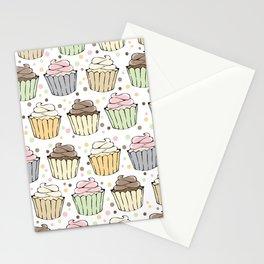 Cupcake Love Pattern -Food Pattern Stationery Cards