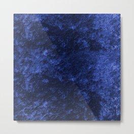 Royal blue navy velvet Metal Print