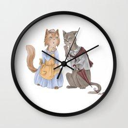 housecats gossip Wall Clock