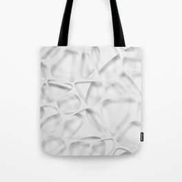 White on white, organic abstraction Tote Bag