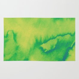 Watercolor texture - green and yellow Rug