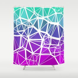 Low Poly Jewel Tones Gradient Shower Curtain