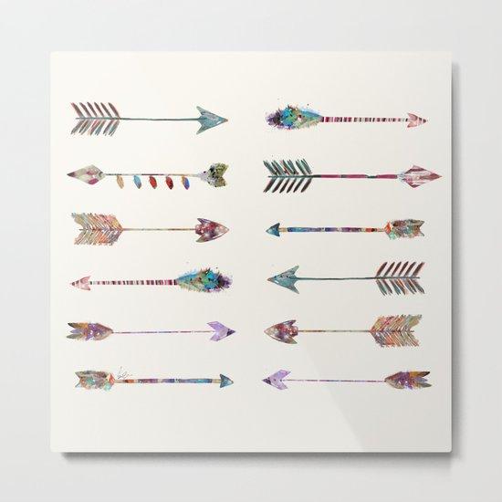 12 arrows Metal Print