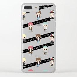 Chibi Fire Clear iPhone Case