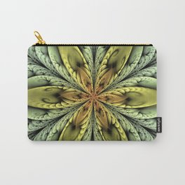 Golden flower with mint swirls Carry-All Pouch