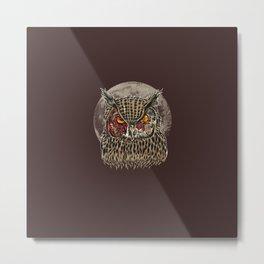 Zombie Owl Metal Print