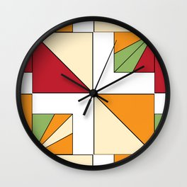 Geo Graphic Offset White Wall Clock