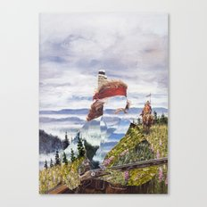The Unknown Rider To The Far Blue Mountains Canvas Print