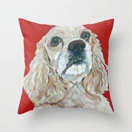 Lola the Cocker Spaniel Throw Pillow