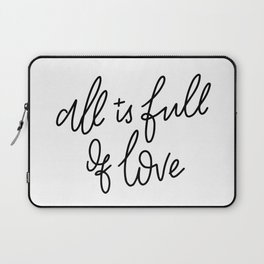 All Is Full Of Love Laptop Sleeve