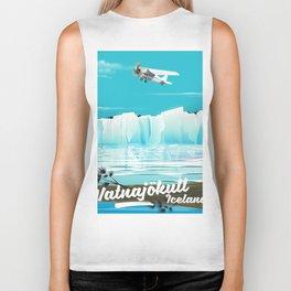 Vatnajökull Iceland Travel poster Biker Tank