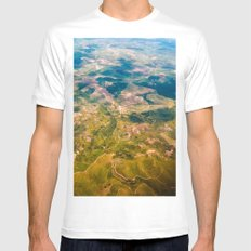 Land from the sky MEDIUM Mens Fitted Tee White