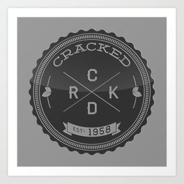 The Cracked Seal of Officialness Art Print