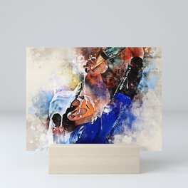 Lando Norris driver Mini Art Print