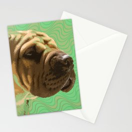 Shar Pei Waves Stationery Cards