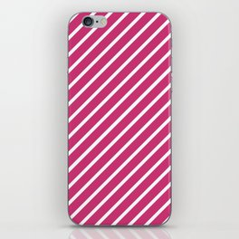 Hot Pink Tight Stripes iPhone Skin