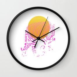 Sunset Guard Wall Clock