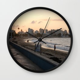 Sunset in San Juan Wall Clock