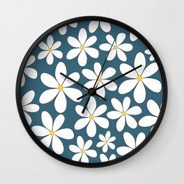 White Jasmin Flowers Wall Clock