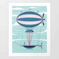 Sky Cycle Art Print