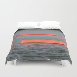 Lake Barriers Duvet Cover
