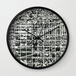 A Symbol of Belonging (P/D3 Glitch Collage Studies) Wall Clock