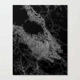 san jose map Canvas Print