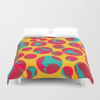cheese Duvet Covers featuring Psychedelic cheese by Gaspar Avila