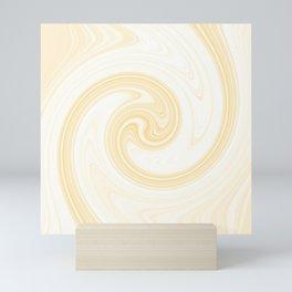 Molten swirls zen, yin and yang serendipity in Aspen-gold Mini Art Print