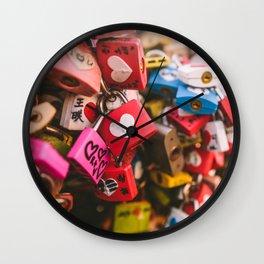 Love locks in Seoul Wall Clock