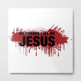 Inspired by the walking dead - Jesus Metal Print
