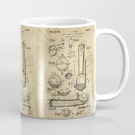 Ice Cream Scoop Blueprint Industrial Farmhouse Coffee Mug