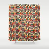 mouth Shower Curtains featuring mouth to mouth by bisualhart