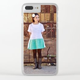 Fuzzy Clear iPhone Case