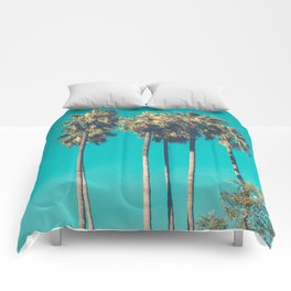 A Few Turquoise Palms Comforters