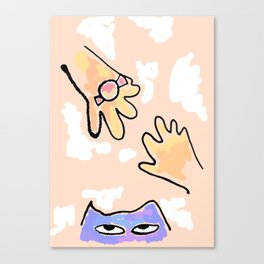 candy and Cat Canvas Print