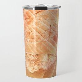 Sandy brown vague watercolor Travel Mug