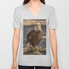 American Bald Eagle Unisex V-Neck