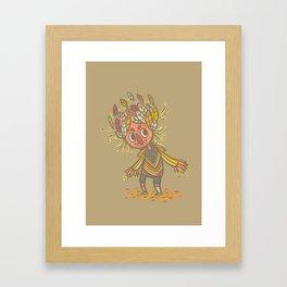 Fall buddy Framed Art Print