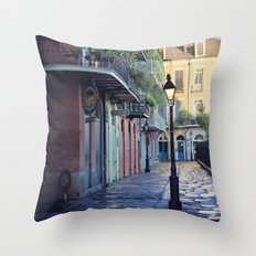New Orleans - Dawns Early Light Throw Pillow