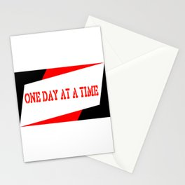 One Day at a Time (red) Stationery Cards