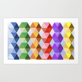 Rainbow Triangles Art Print