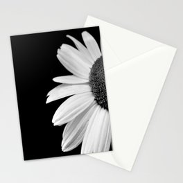 Half Daisy in Black and White Stationery Cards
