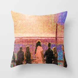 Enemy at the gate Throw Pillow