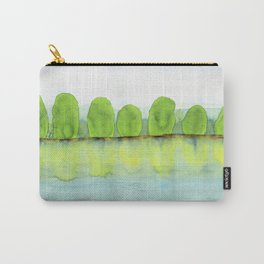 Trees Refecting On The Water Carry-All Pouch