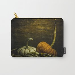 October Pumpkin, Gourd, Indian Corn Scene Carry-All Pouch