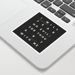 Psalm 23:4 Typography Quote Sticker