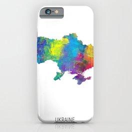 Ukraine Watercolor Map iPhone Case