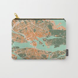 Stockholm city map orange Carry-All Pouch