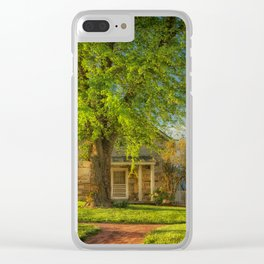 The Stone Cottage On A Spring Evening Clear iPhone Case